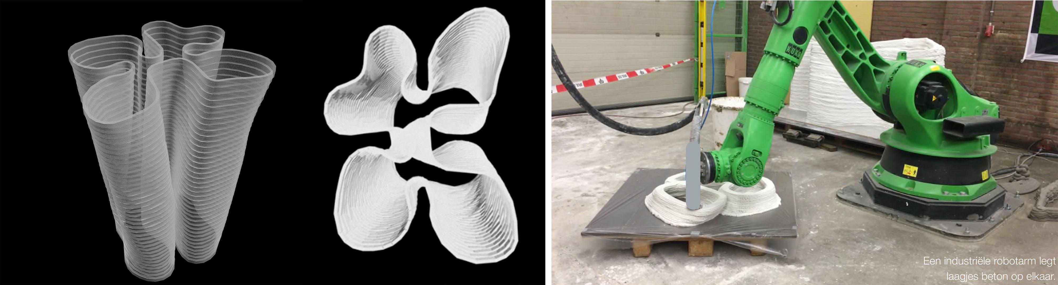 Vaaskolom, 3D Betonprint Challenge en bouwbeurs 2016