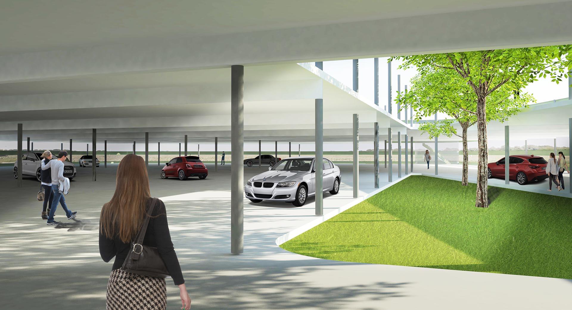 Parkeergarage P+R Den Haag, studie